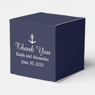 Custom Midnight Blue and White Nautical Wedding Favor Box