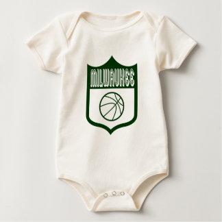 Custom Milwaukee Shield Design1 Baby Bodysuit
