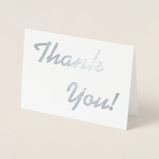 "Custom, Minimal ""Thank You!"" Card"