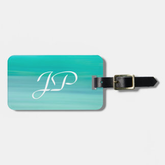 Custom mint Green sea water backdrop Luggage Tag