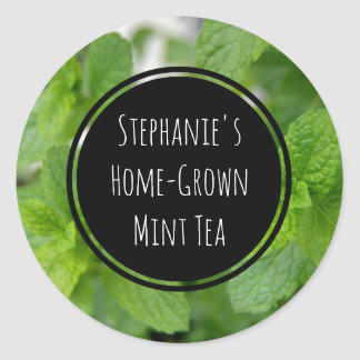 Custom Mint Tea/Spice/Herb Bottle Jar Garden Label