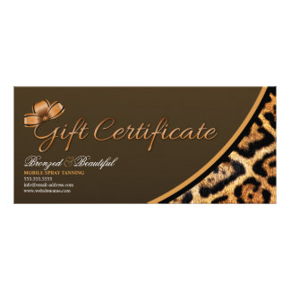 CUSTOM Mobile Spray Tanning Gift Certificate