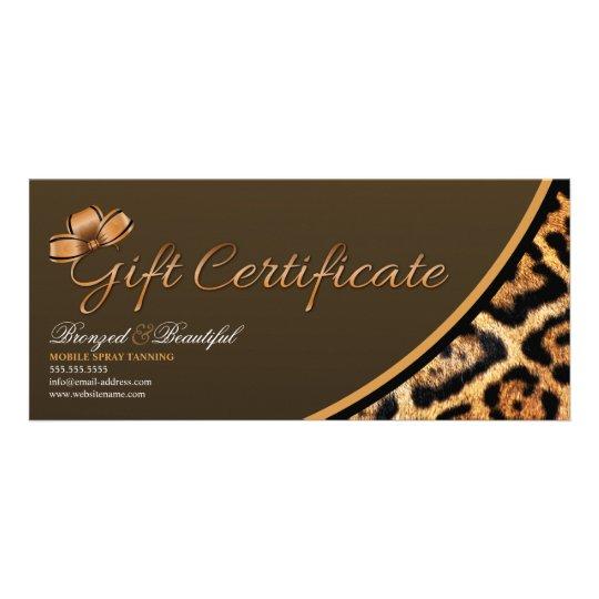 Custom mobile spray tanning gift certificate zazzleca for Zazzle gift certificate