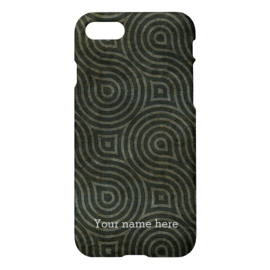 Custom Modern Black Primitive Tribal Pattern iPhone 7 Case