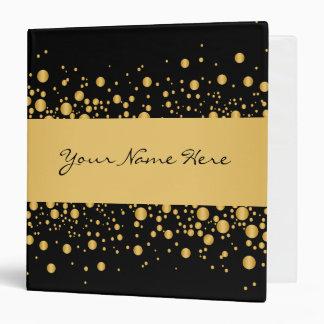 Custom Modern Bubbles | Exquisite Gold on Black Binder