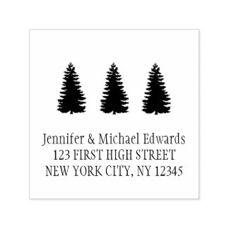 Custom Modern Christmas trees self inking Self-inking Stamp