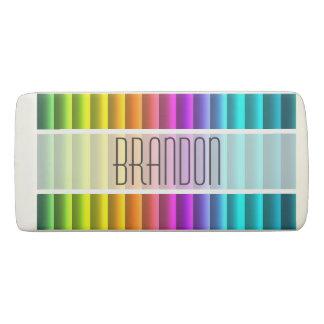 Custom Modern Colorful Rainbow Stripes Pattern Eraser