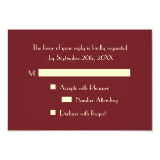 Custom Modern Elegant Party RSVP Invitation Card