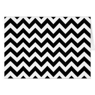 Custom Modern Large Black and White Chevrons Card