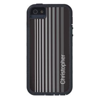 Custom Modern Monochrome Gradient Vertical Stripes iPhone 5 Case