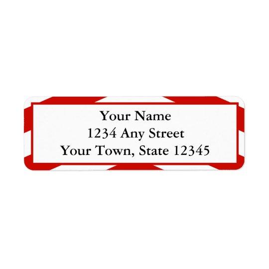 Custom Modern Red Chevron Return Address Labels
