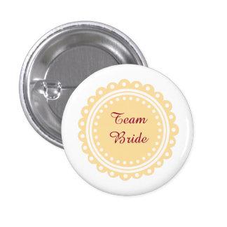 Custom Modern Wedding Team Bride Buttons