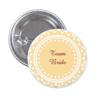 Custom Modern Wedding Team Bride Buttons