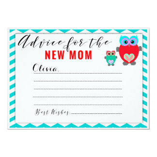 Custom Mom to Be Advice Cards Baby Shower