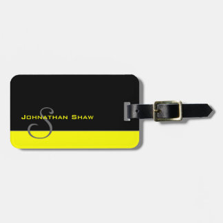 Custom Monogram 5 (Yellow) Luggage Tag