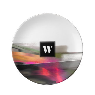 Custom Monogram Abstract Painting Gift Plates