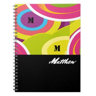Custom Monogram and Name | Abstract Art Notebooks
