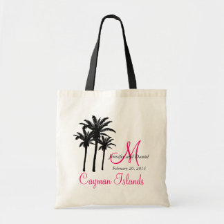 Custom Monogram Beach Wedding Tote Bags