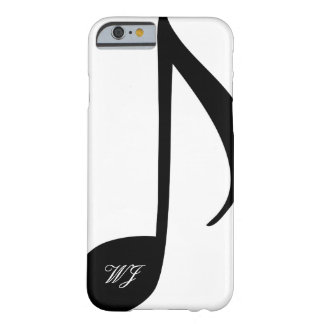 Custom Monogram Black and White Musical Note Barely There iPhone 6 Case