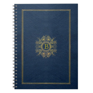 Custom Monogram Blue Moroccan Notebook