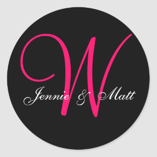 Custom Monogram Bride Groom Names Stickers
