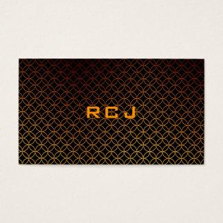 Custom Monogram Business Card