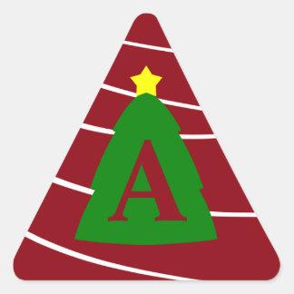 Custom Monogram Christmas Tree Sticker Letter Seal