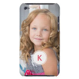 Custom Monogram Circle Personalized Photo Template iPod Case-Mate Cases