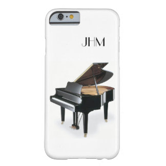 Custom Monogram Classical Music Grand Piano Barely There iPhone 6 Case