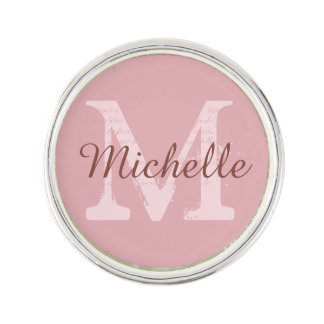 Custom monogram & color lapel pin