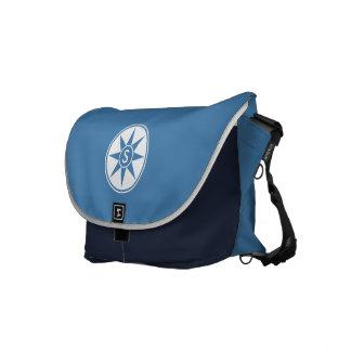 Custom monogram & color messenger bags