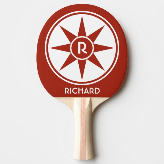 Custom monogram & colour ping pong paddle