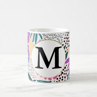 Custom Monogram Cutting Shapes Tropical Mug