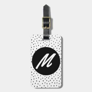 Custom Monogram Doodle Spot  Luggage Tag