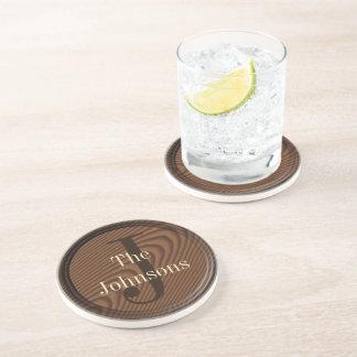 Custom Monogram Drink Coasters