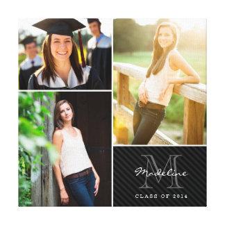 Custom Monogram Graduation 2014 Photo Collage Canvas Print