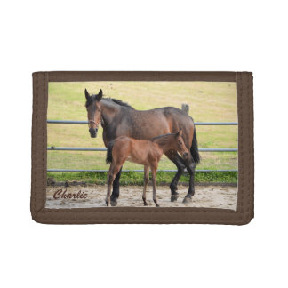 Custom monogram horse wallet
