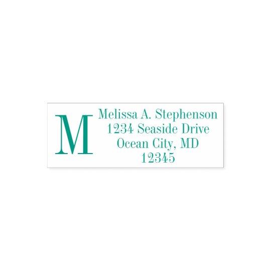 Custom Monogram Initial Return Address Stamp