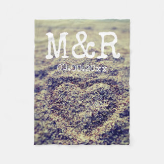Custom monogram instagram photo fleece blanket