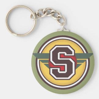 """Custom Monogram Letter """"S"""" Initial Keychain"""