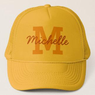 Custom monogram & name hat