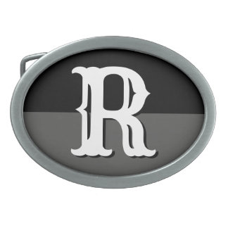 Custom monogram name initial belt buckles