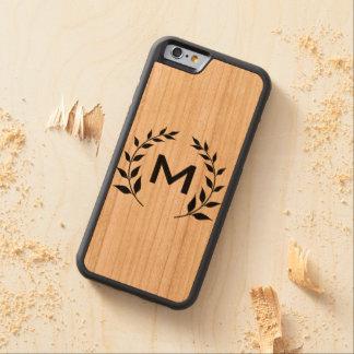 Custom Monogram Natural Wood Phone Case