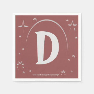 Custom monogram paper napkins