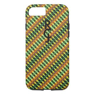 Custom Monogram Pattern Design iPhone Case