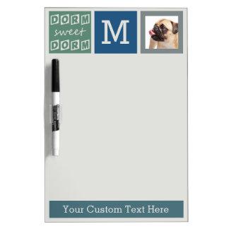 Custom Monogram & Photo dorm room message board Dry Erase Whiteboard