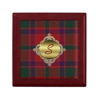 Custom Monogram Plaid Tile Box