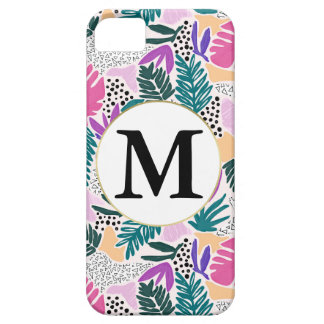Custom Monogram Tropical Phone Cover