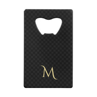 Custom Monogram Wallet Credit Card Bottle Opener