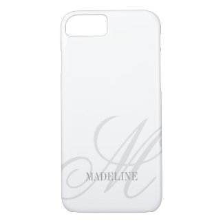 Custom monogram watermark elegant iPhone 7 case